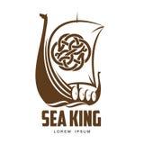 Logo di Viking della nave illustrazione di stock