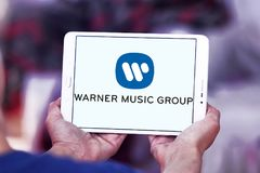 Logo di Warner Music Group Fotografia Stock Libera da Diritti