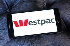 Logo di Westpac Banking Corporation immagini stock