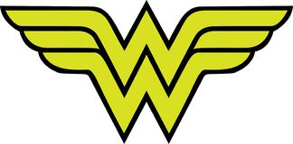 Logo di Wonder Woman illustrazione vettoriale