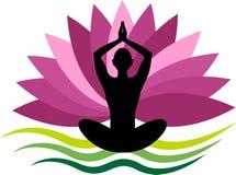 Logo di yoga illustrazione di stock