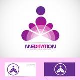 Logo di zen di yoga di meditazione illustrazione di stock