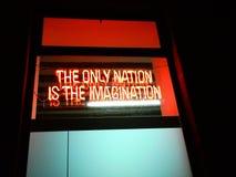 Logo: Die einzige Nation ist die Fantasie stockfotografie