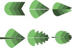 Logo différent de lames illustration stock