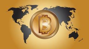 Logo digitale dei fondi Bitcoin Fotografie Stock Libere da Diritti