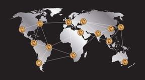 Logo digitale dei fondi Bitcoin Immagine Stock Libera da Diritti