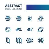 Logo dinamico blu Fotografie Stock