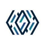 Logo dinamico blu Fotografia Stock