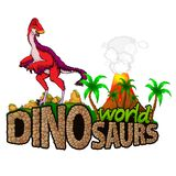 Logo Dinosaurs World Illustration Libre de Droits