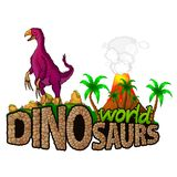 Logo Dinosaurs World Illustration Stock
