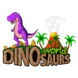Logo Dinosaurs World Illustration de Vecteur