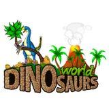 Logo Dinosaurs World Images libres de droits