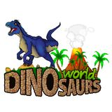 Logo Dinosaurs World Stockfotos