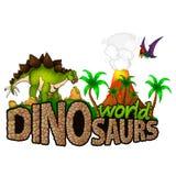 Logo  Dinosaurs World. Vector illustration Royalty Free Stock Photos