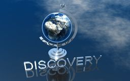 Logo Discovery. 3D Presentation Business Logo Discovery Royalty Free Stock Image