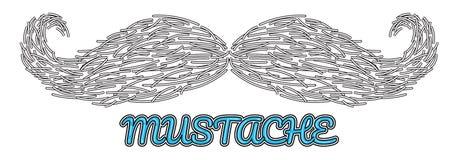 Logo disegnato a mano dei baffi di vettore Immagine Stock Libera da Diritti