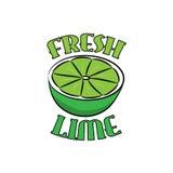 Logo disegnato a mano della calce fresca Immagini Stock