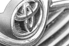 Logo ?ditorial et sale de Toyota illustration stock