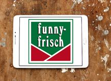 Logo divertente-frisch di marca delle patatine fritte Fotografie Stock