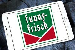 Logo divertente-frisch di marca delle patatine fritte Immagini Stock Libere da Diritti
