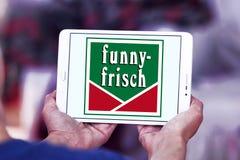 Logo divertente-frisch di marca delle patatine fritte Immagine Stock