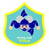 Logo diving club Stock Photos