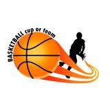 Logo dla drużyny koszykarskiej Zdjęcia Royalty Free