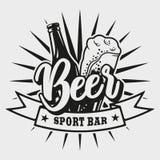 Logo dla piwo baru na białym tle ilustracji