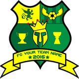 Logo dla twój drużyny futbolowej Fotografia Royalty Free