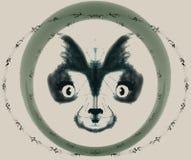 Logo Dog en círculo stock de ilustración