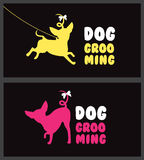 Logo for dog hair salon. Dog beauty salon. Pet grooming salon. Vector dog silhouette. Stock Photo