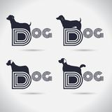 Logo dog logo Collection. animal. font. Freeform. symbol. Abstra. Logo dog logo Collection. animal. font. symbol. Abstract. vector illustration. on white Stock Photo