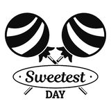 Logo dolce della lecca-lecca, stile semplice illustrazione di stock