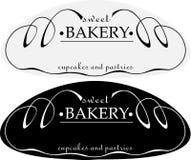 Logo dolce delle pasticcerie della pagnotta astratta minimalista Fotografia Stock