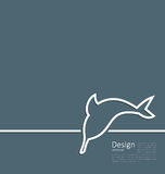 Logo of dolphin in minimal flat style line Stock Image