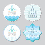 Logo of dolphin and waves Stock Images