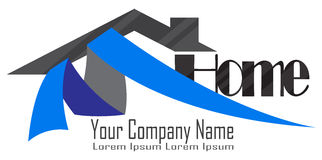 Logo domestico degli sviluppatori Fotografie Stock