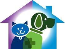 Logo domestico dell'animale domestico illustrazione vettoriale