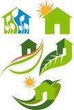 Logo domestico della foglia illustrazione vettoriale