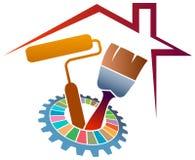 logo domestico della pittura Fotografie Stock Libere da Diritti