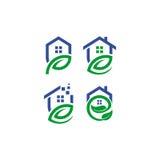 Logo domestico di vettore della foglia Immagine Stock Libera da Diritti