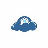 Logo domestico di vettore della nuvola Fotografia Stock Libera da Diritti