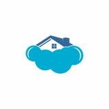 Logo domestico di vettore della nuvola Fotografia Stock