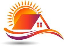 Logo domestico luminoso illustrazione di stock