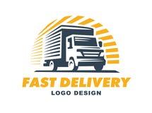 Logo doręczeniowej usługa pojęcie Zdjęcie Royalty Free