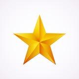Logo dorato per la vostra progettazione, illustrazione della stella di vettore Fotografia Stock