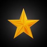 Logo dorato per la vostra progettazione, illustrazione della stella di vettore del disegno della mano Immagini Stock