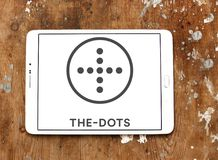 The dots social network logo. Logo of the dots social network on samsung tablet royalty free stock photos