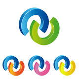 Logo double circle Stock Photos