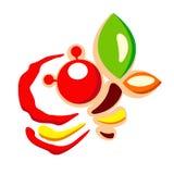 Logo doux de gâteau de miel de boutique Illustration de Vecteur